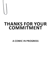 06 Thanks for Your Commitment (A Comic in Progress)